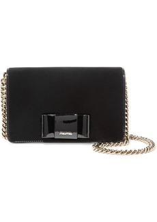 Miu Miu Patent leather-trimmed velvet shoulder bag