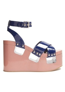 Miu Miu Patent-leather wedge sandals