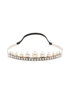 Miu Miu Pearl and crystal-embellished headband