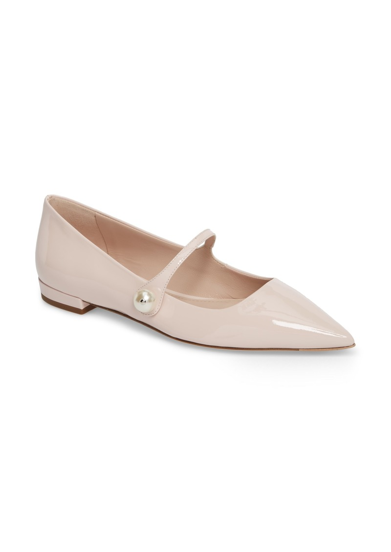 Miu Miu Pearl Mary Jane Flat (Women)