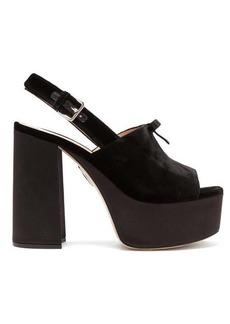 Miu Miu Peep-toe velvet platform sandals