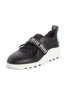Miu Miu Perforated Platform Sneaker (Women)