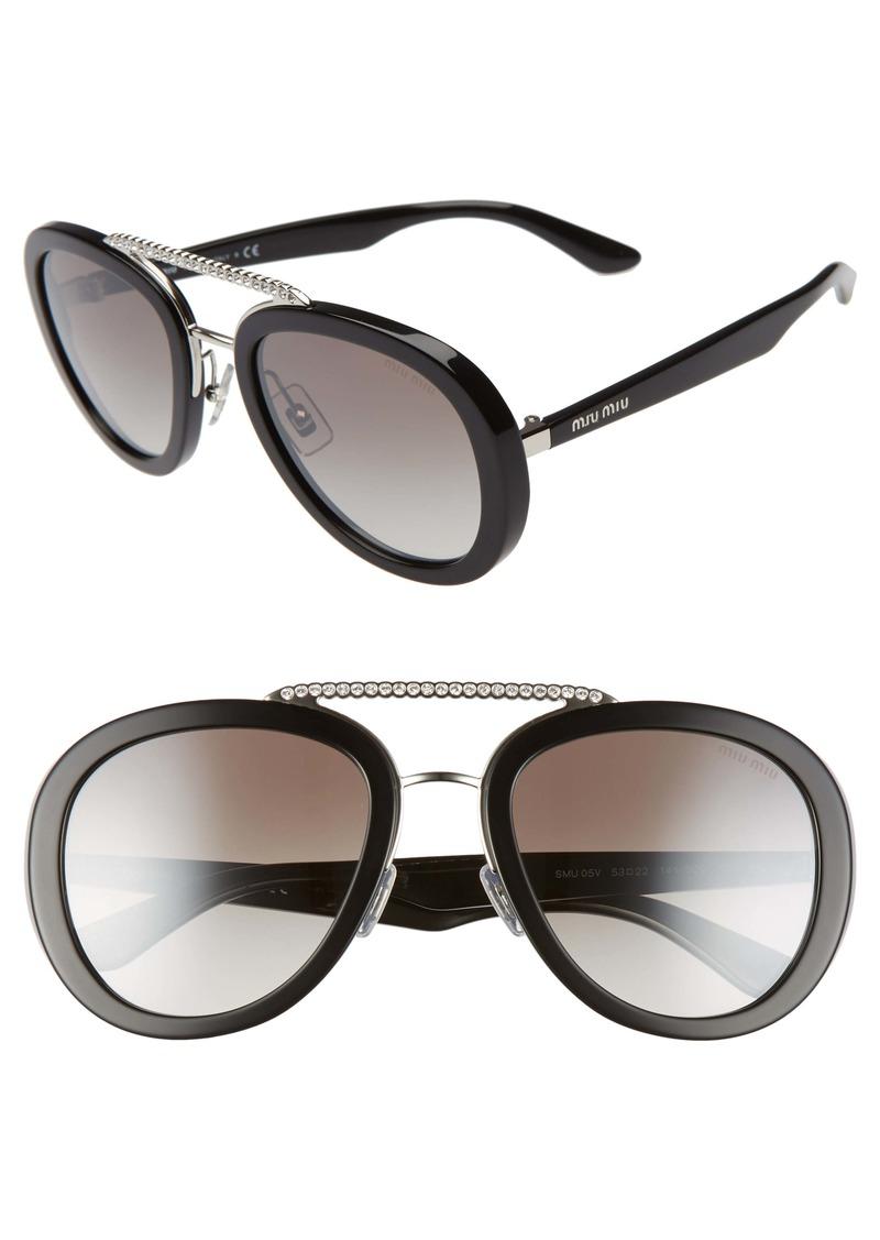 Miu Miu Phantos 53mm Sunglasses