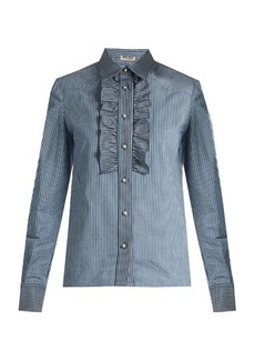 Miu Miu Pinstriped cotton-drill shirt