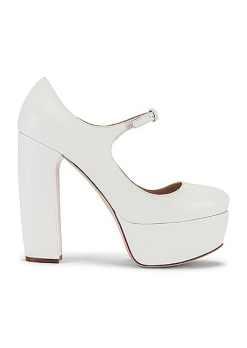 Miu Miu Plain Mary Jane Platform Heels