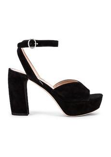Miu Miu Platform Ankle Strap Sandals
