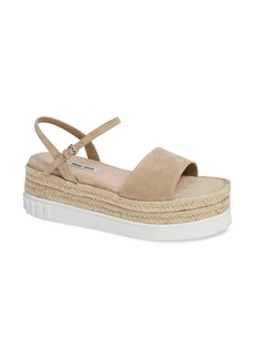 Miu Miu Platform Espadrille Sandal (Women)
