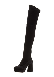 Miu Miu Platform Velvet Over-the-Knee Boot