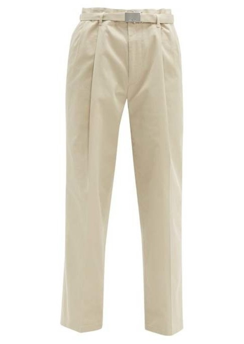 Miu Miu Pleated cotton-blend twill trousers