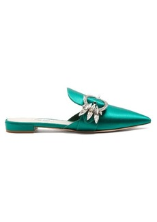 Miu Miu Point-toe satin slipper shoes