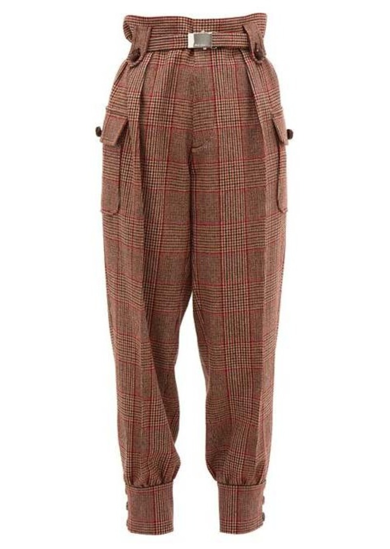 Miu Miu Prince of Wales-checked wool-blend trousers