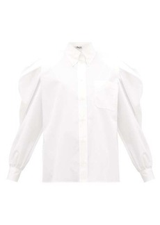 Miu Miu Puff-sleeve cotton-poplin shirt