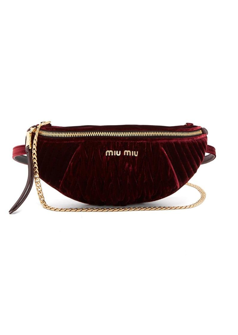 Miu Miu Miu Miu Quilted-velvet belt bag  163b51545d894