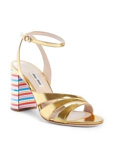 Miu Miu Rainbow Heel Sandal (Women)