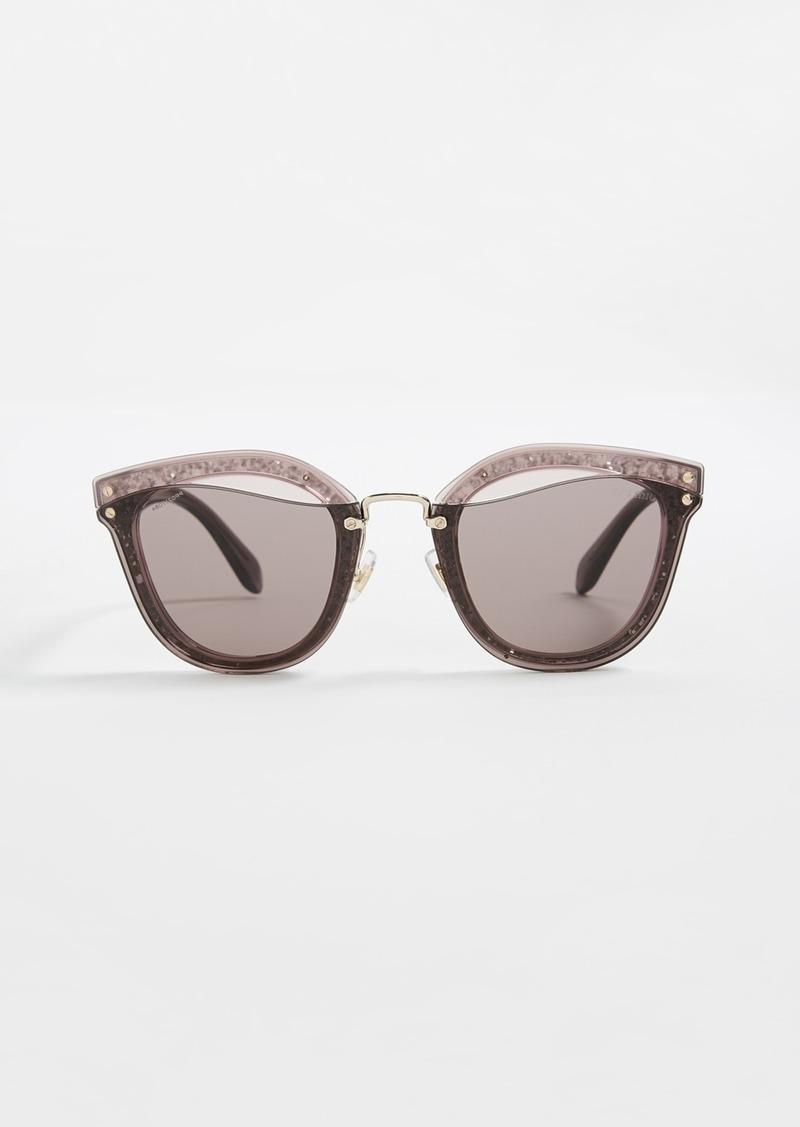 537030eeb810 Miu Miu Miu Miu Reveal Glitter Sunglasses
