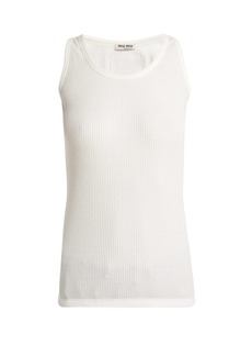 Miu Miu Ribbed cotton tank top