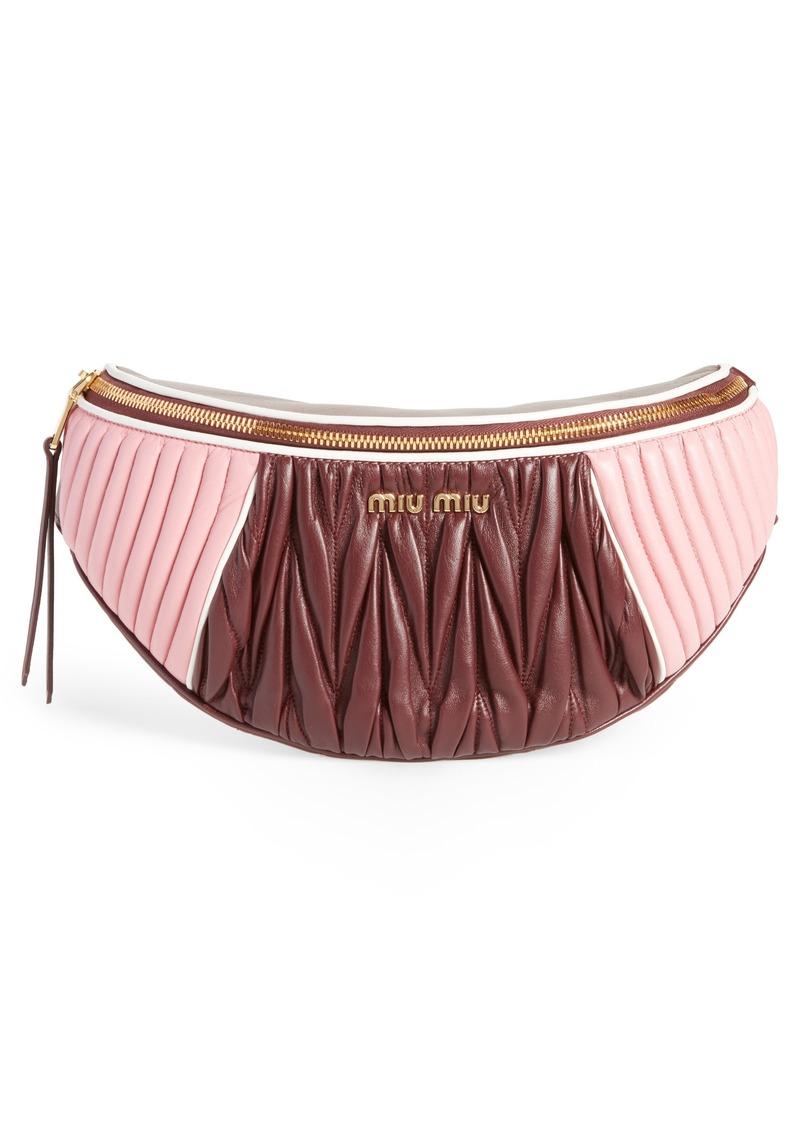 ffaecb7fe54a Miu Miu Miu Miu Rider Matelassé Leather Belt Bag | Handbags