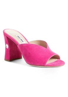 Miu Miu Rocchetto Embellished Sandal (Women)