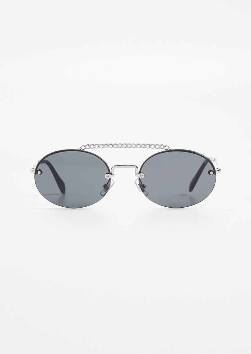 2e1cffef7 Miu Miu Miu Miu Round Aviator Sunglasses | Sunglasses