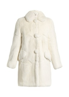 Miu Miu Round-collar rabbit-fur coat