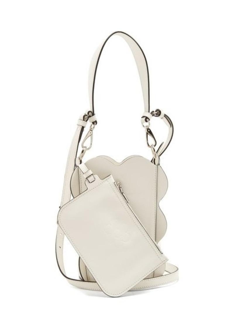 c07eb6b055a9 Miu Miu Miu Miu Scallop-edged leather bucket bag