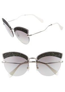 Miu Miu Scenique Evolution 65mm Cat Eye Sunglasses