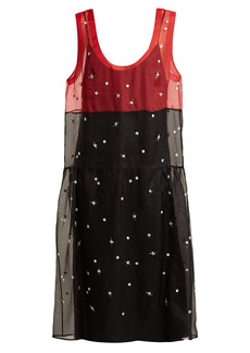 Miu Miu Scoop-neck embroidered organza dress