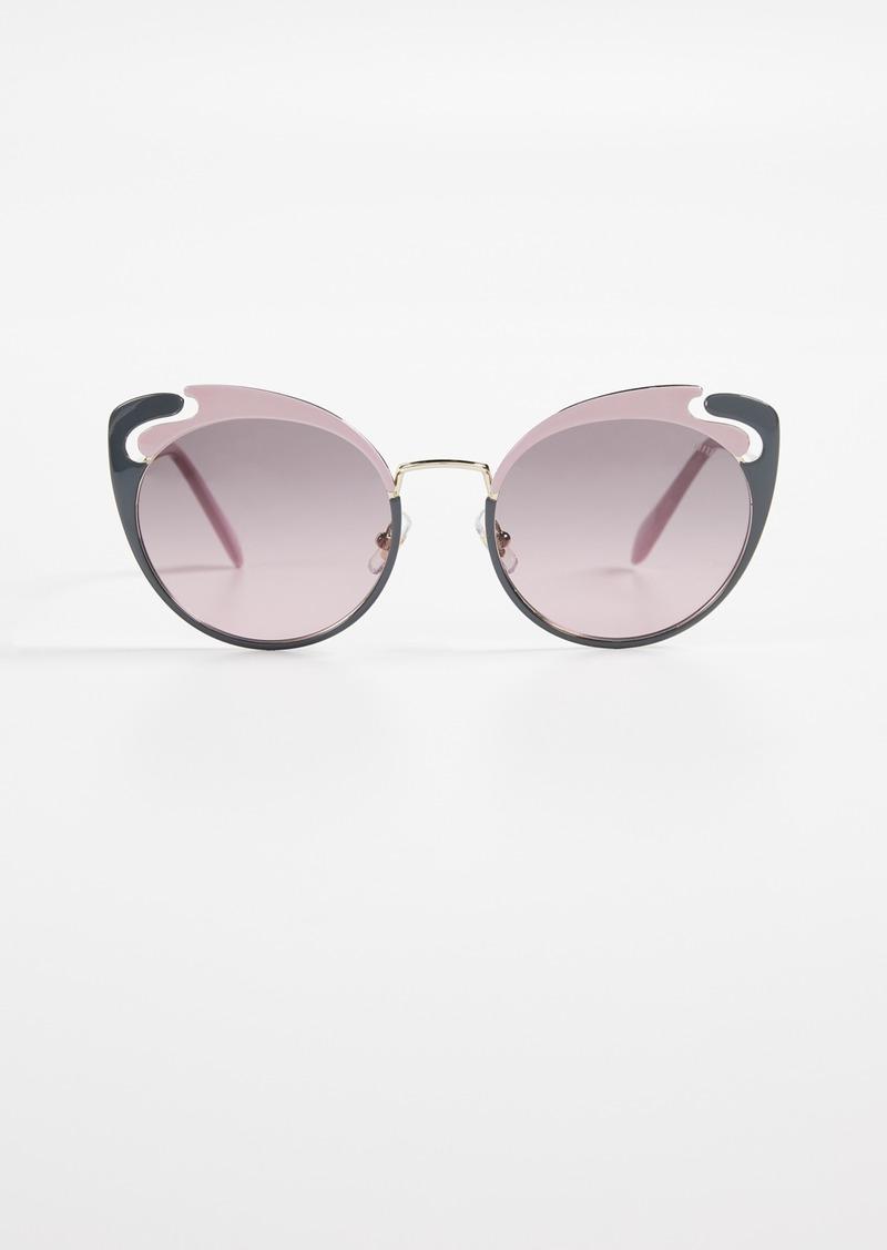 ebc283bab746 Miu Miu Miu Miu See Through Cat Eye Sunglasses Now $273.00