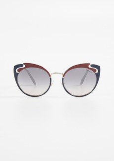 Miu Miu See Through Cat Eye Sunglasses