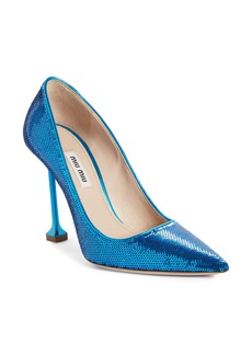 Miu Miu Sequin Pin Heel Pump (Women)