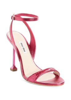 Miu Miu Sequin Pin Heel Sandal (Women)