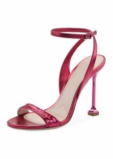 Miu Miu Sequined Metallic 105mm Sandals