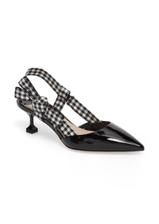 Miu Miu Slingback Bow Pump (Women)