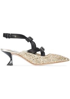 Miu Miu slingback glitter pumps - Unavailable