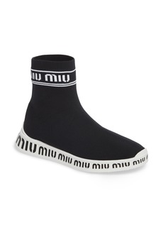 Miu Miu Slip-On Logo Sneaker (Women)
