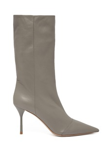 Miu Miu Slouch point-toe leather ankle boots