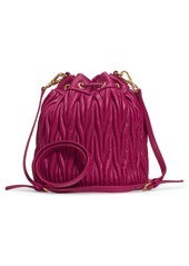 Miu Miu Small Matelassé Leather Bucket Bag