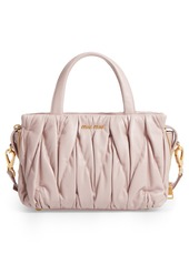Miu Miu Small Matelassé Nappa Leather Satchel