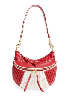 Miu Miu Small Rider Matelassé Leather Shoulder Bag
