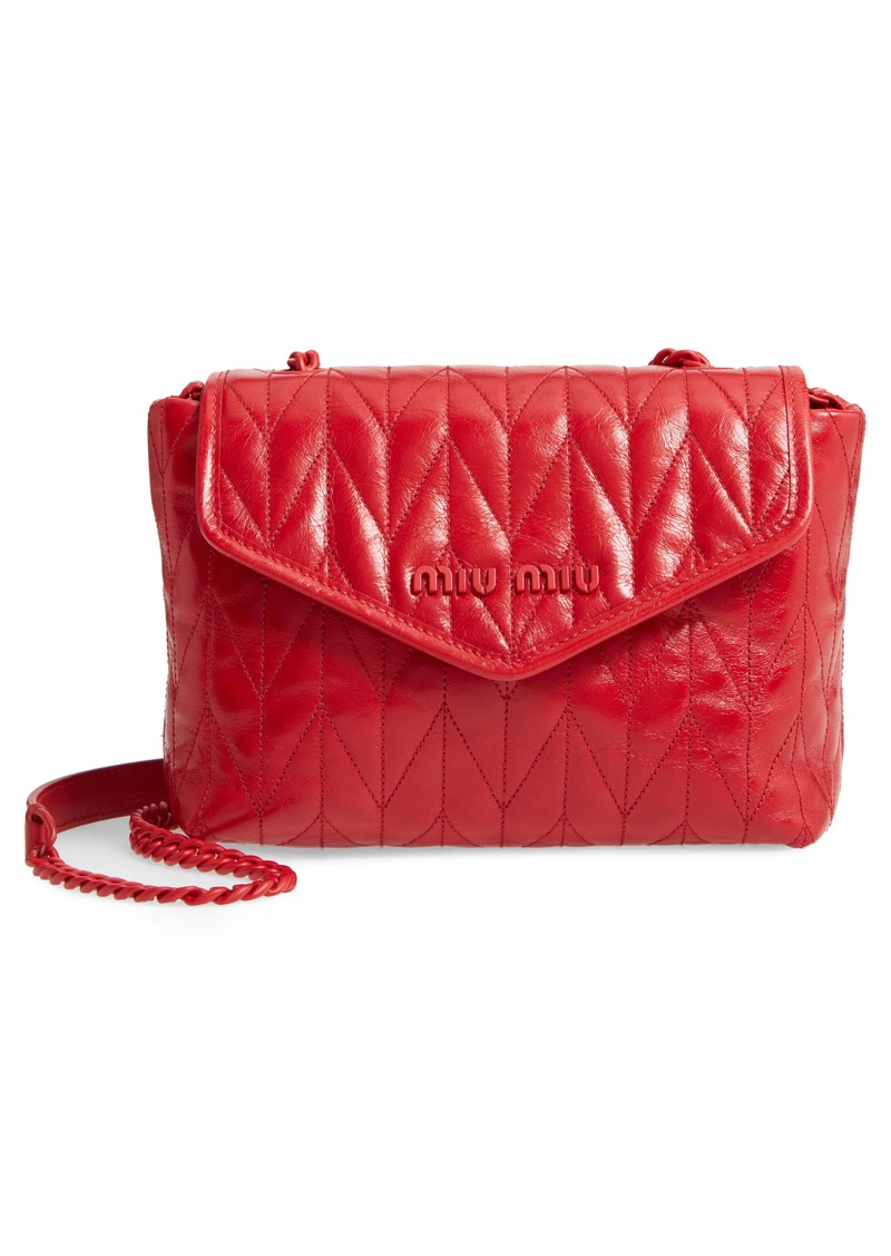 Miu Miu Small Trapuntato Quilted Calfskin Leather Shoulder Bag