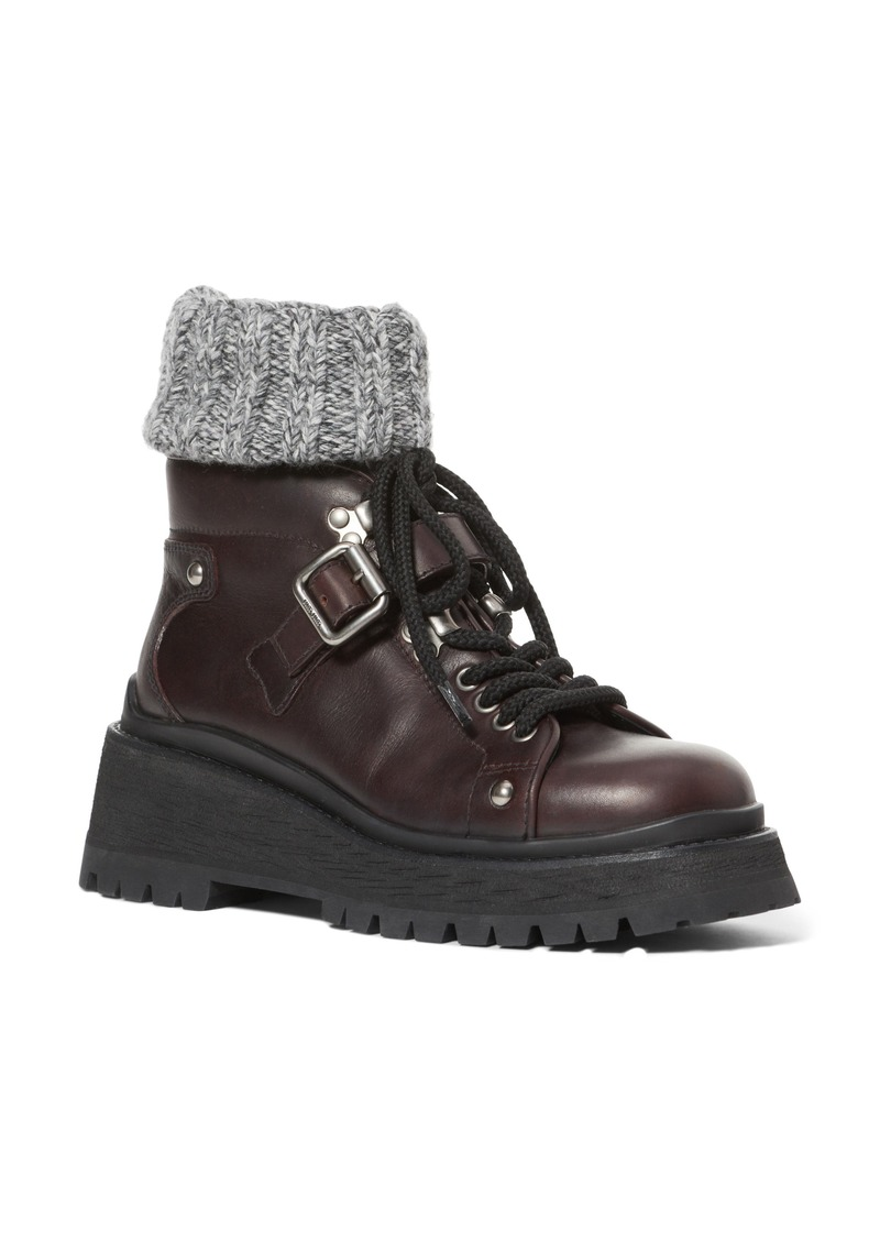 Miu Miu Sock Combat Boot (Women)