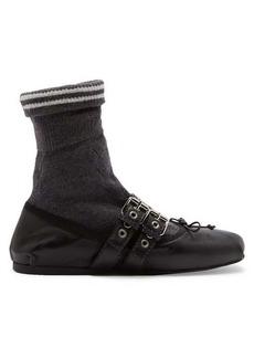 Miu Miu Sock leather ballet flats