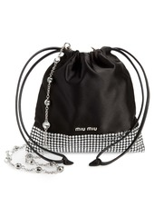 Miu Miu Strauss Crystal Embellished Shoulder Bag