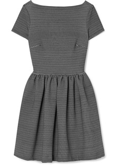 Miu Miu Striped Ribbed Stretch-jersey Mini Dress