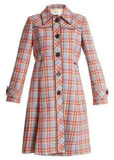 Miu Miu Stud-embellished checked coat