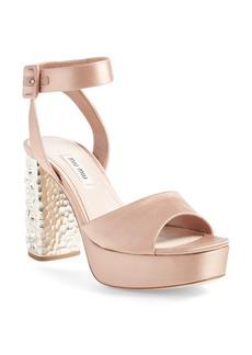 Miu Miu Studded Block Heel Platform Sandal (Women) (Nordstrom Exclusive)