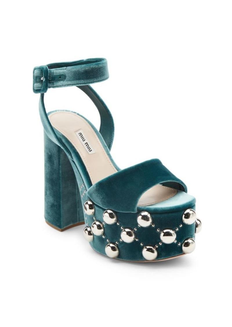 e105b73f610e Miu Miu Miu Miu Studded Platform Sandals