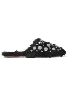 Miu Miu Studded shearling slippers