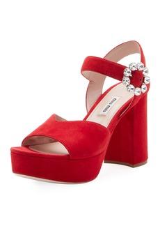 Miu Miu Suede High Platform Sandals