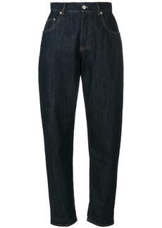 Miu Miu tapered boyfriend jeans - Blue
